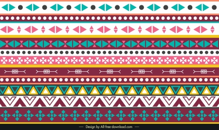 tribal pattern repeating geometric shapes decor horizontal layout