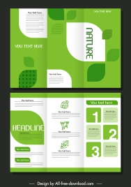 trifold brochure template elegant green bright decor