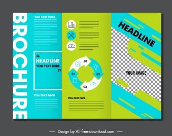 trifold brochure template modern colored checkered decor