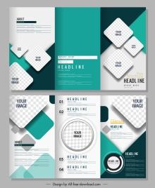 trifold brochure templates modern bright checkered decor