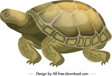 turtle icon crawling gesture shiny colored sketch