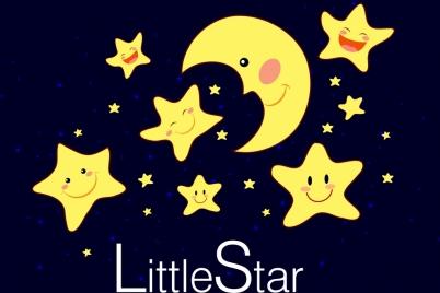 twinkling little stars background stylized cartoon style