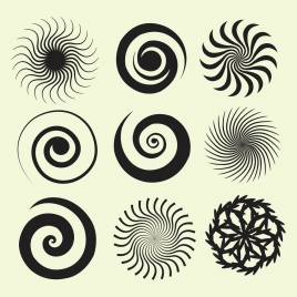 twisted circles collection flat black design