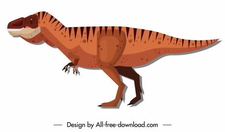 tyrannousaurus rex dinosaur icon colored flat classic design