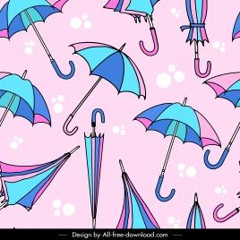umbrella pattern template colorful handdrawn sketch