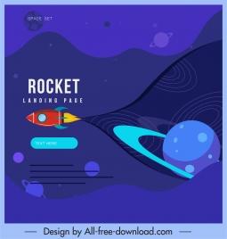universe background spaceship planets decor dark design