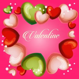 valentine cute heart frame