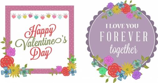 valentine theme sets colorful design on geometric frames