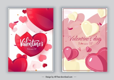 valentines card cover templates modern dynamic hearts decor
