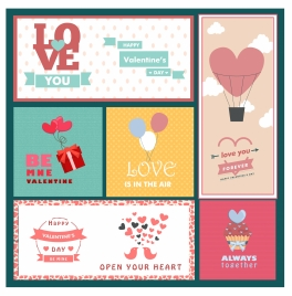 valentines card templates with heart and balloon decoration