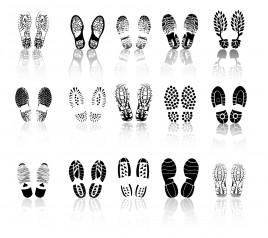 various shoe print