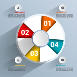 vector business infographic with circles buttons icons