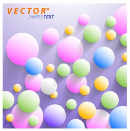 vector illustration of colorful balloons on plain background