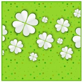 vector illustration of white flowers on green background