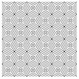 Vector seamless black guilloche background