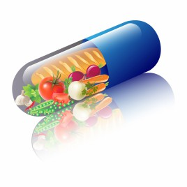 vegetables in capsule