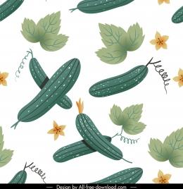 vegetables pattern loofah elements sketch repeating design
