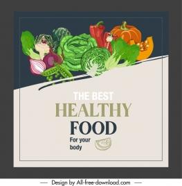 vegetarian menu cover colorful vegetables sketch