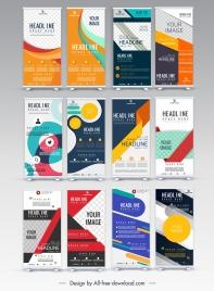 vertical banner templates colorful modern design