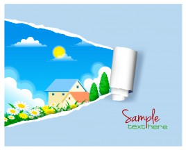villa for sale paper poster
