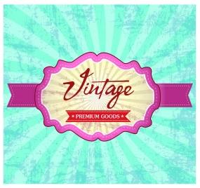 vintage banner