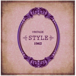 vintage banner design with classical border