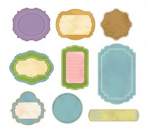 vintage colorful frames vector illustration