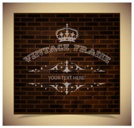vintage decor on old brick wall