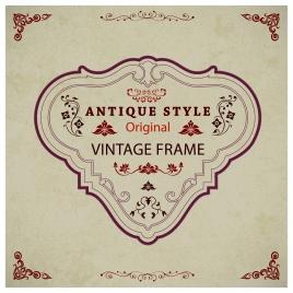 vintage frame design with antique style