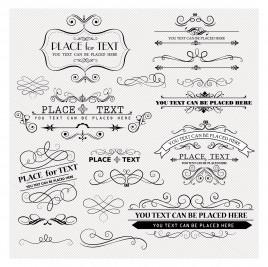 Vintage Frames and Scroll design element
