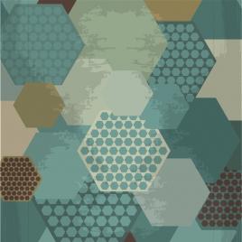 vintage geometric background hexagon collection decoration