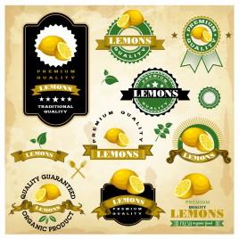 Vintage Lemon Labels