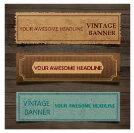 vintage old paper banner