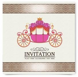 vintage party invitation card decor
