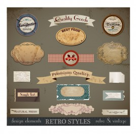 Vintage Retro Design Elements