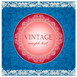 vintage round and square ornament