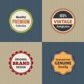 vintage round badge design