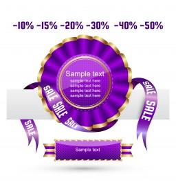 violet sale ribbon badge