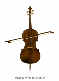 violin music instruments brown classical sketch