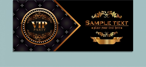 vip card template golden royal style luxury decoration