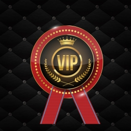 vip label logotype shiny elegant luxury design
