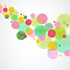 Watercolor Circles Abstract