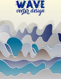 wave background multicolored seamless curves decoration