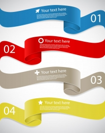 wave ribbon infographic