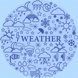 weather design elements flat circle layout
