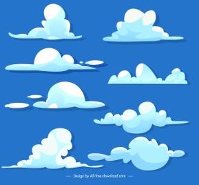 weather forecast design elements flat clouds shapes sketch