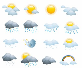 Weather icons, day forecast
