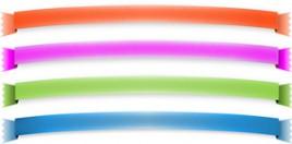 web menu bar design ribbons