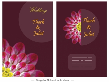 wedding banner template classic dark blooming flora sketch