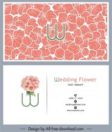 wedding card template botanical petals sketch handdrawn classic